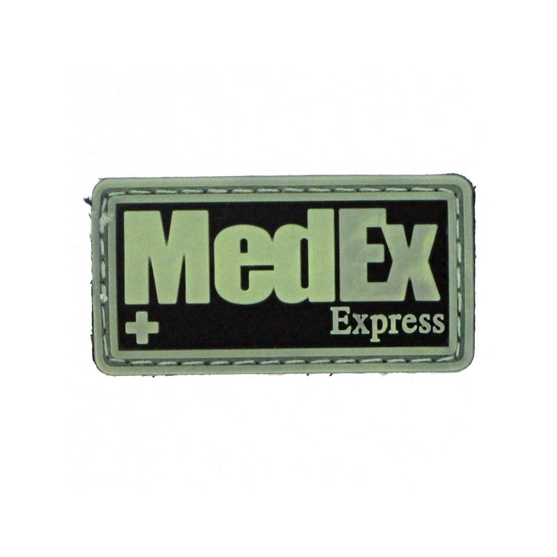 patch pvc medex fond noir olive