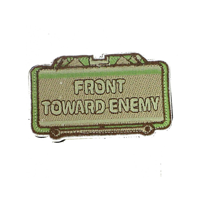 Patch écusson front toward Enemy Olive