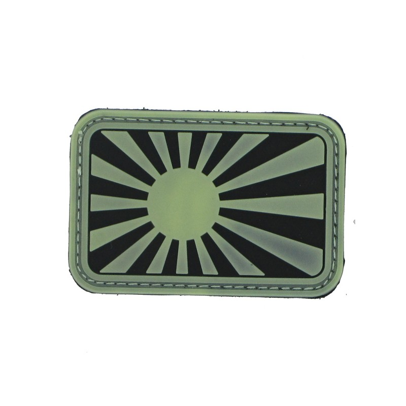 Patch PVC japan war fond noir/olive